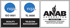 ISO 9001 Quality Managment & TL 9000 Telecom Management - ANAB Accredited Certification
